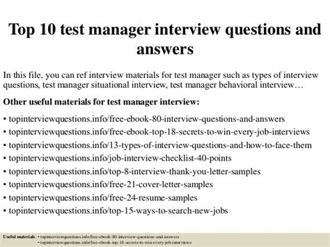 top  test manager interview questions  answers