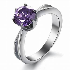 Women s titanium diamond rings wedding promise diamond for Stylish wedding rings