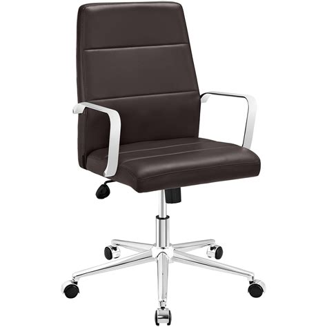 stride mid back office chair upholstered in vinyl with