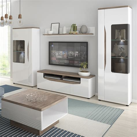Tv Sideboard Cabinets by Toledo Wide Coffee Table In Alpine White With High Gloss