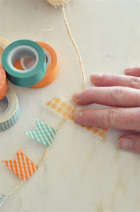 washi selber machen girlande mit washi selber machen ideen basteln etc washi diy washi crafts