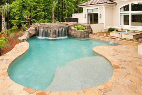 Customized Pool Water Features In Savannah, Charleston
