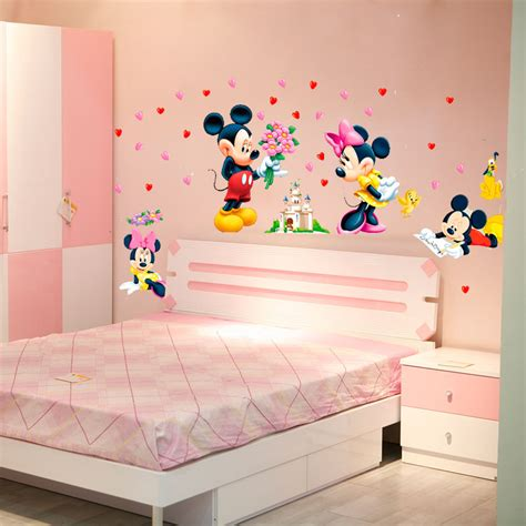 stickers chambre b b personnalis mickey minnie mouse baby home decals wall stickers