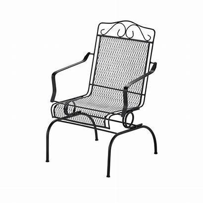 Chairs Metal Rocking Patio Chair Outdoor Hampton