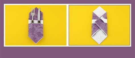 Papierservietten Falten Schöne Bestecktasche