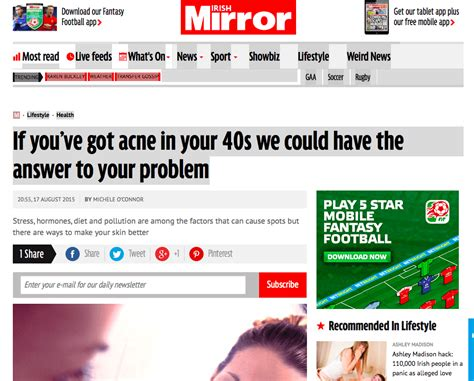 Irish Mirror: 'If you've got acne in your 40s we could ...
