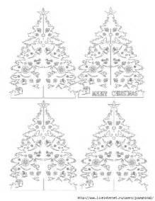 kirigami papercutting christmas tree pattern crafts pinterest christmas trees tree