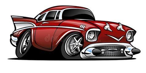 Classic American Hot Rod Cartoon Illustration Stock