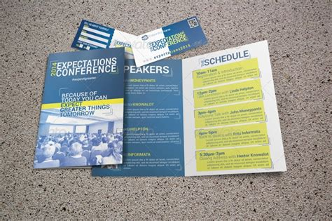 conference brochures  psd ai indesign vector