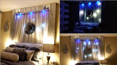 diy   bed wall decor  lightings wall
