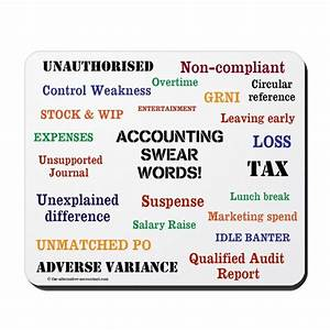 Accounting Swear Words Rude Mousepad by accountingcelebrity