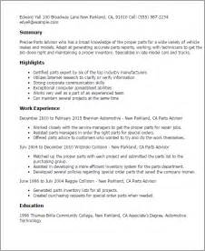 summary part of a resume professional parts advisor templates to showcase your talent myperfectresume