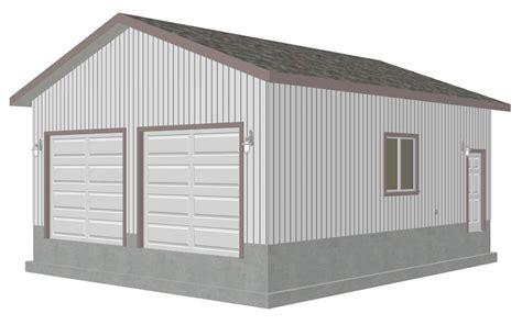 G446 24'4×28'4 Garage Plan  Free House Plan Reviews