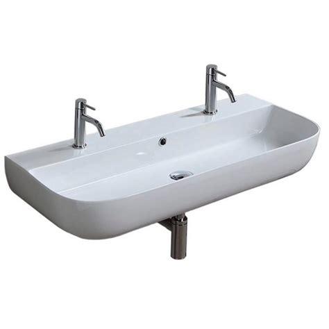 nameeks glam wall mounted bathroom sink  white scarabeo
