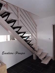 Escalier 1 4 Tournant Droit : escalier 1 4 tournant m tiss limons droit limon m tiss en fr ne naturel blanchie avec ~ Dallasstarsshop.com Idées de Décoration