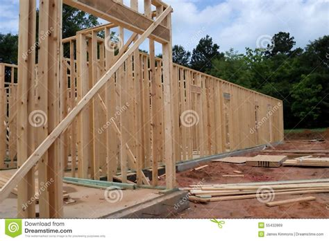 wood  home framing stock image image  headers