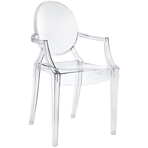 black and white arm chair philippe starck style louis ghost arm chair