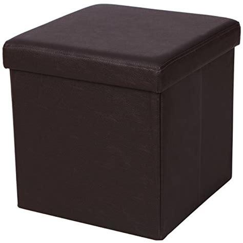 storage ottoman cube songmics faux leather folding storage ottoman cube foot