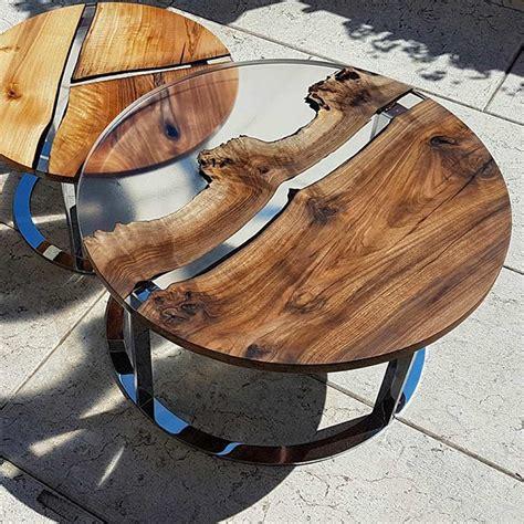 tavolino tondo da salotto  design legno  resina