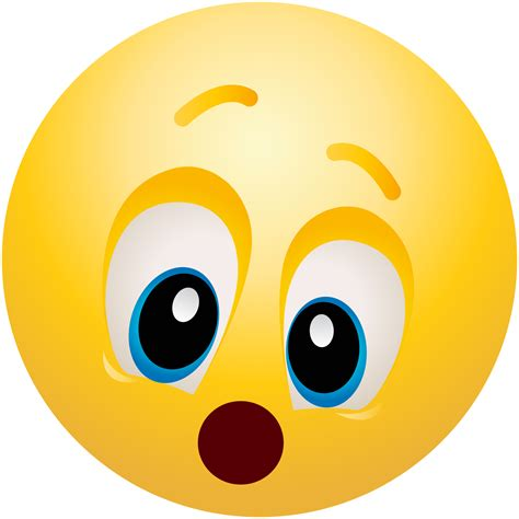 Amazed Emoticon Emoji Clipart Info