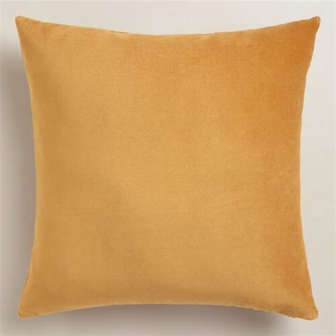 gold velvet throw pillow world market