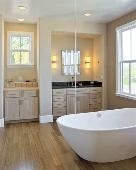 Bathroom Floors Photos by 90 Master Bathrooms With Hardwood Flooring Photos