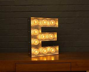 light up marquee bulb letters e by goodwin goodwin With light up letter e