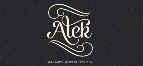 alek font  fenotype  classy  decorative script font