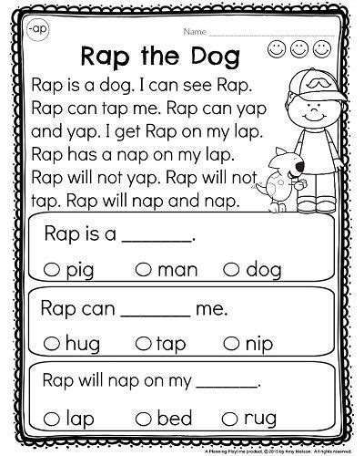 Kindergarten Reading Comprehension Passages  Kindergarten Reading Comprehension, Reading