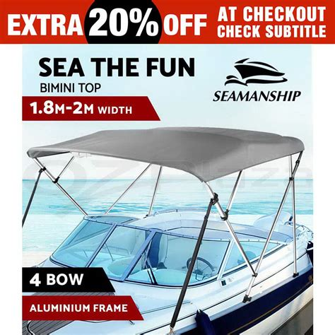 Boat Canopy Straps by Canopy Straps Image Is Loading 4 Bow 1 8m 2m Boat Bimini