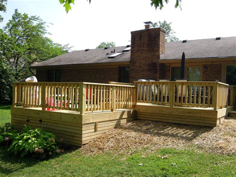treated lumber deck w wood skirting west chester oh area
