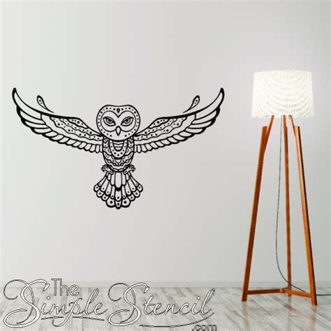 Tribal Owl Vinyl Wall Decal Spirit Animal Decals For