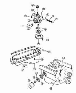 1998 Dodge Dakota Plate  Oil Filter Adapter  Engine
