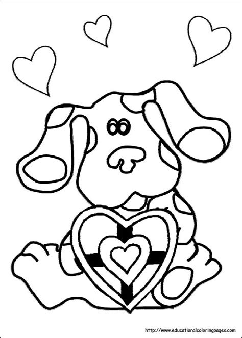 blue s clues coloring sheets educational fun kids
