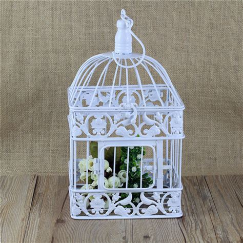 decorative cages square metal decorative wedding bird cage in carriers from home garden on aliexpress com