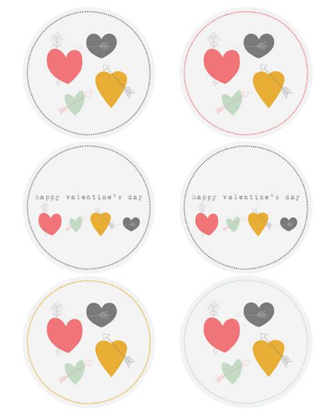 hearts arrows valentine labels  catherine auger