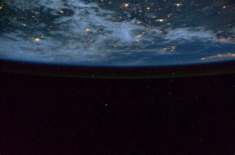 Earth at Night From Space Station