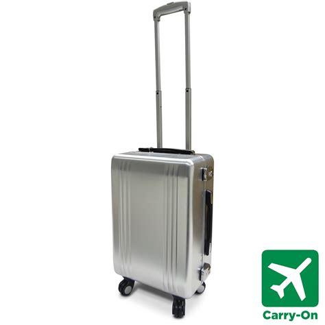cabin luggage suitcase aluminium spinner suitcase small medium large cabin