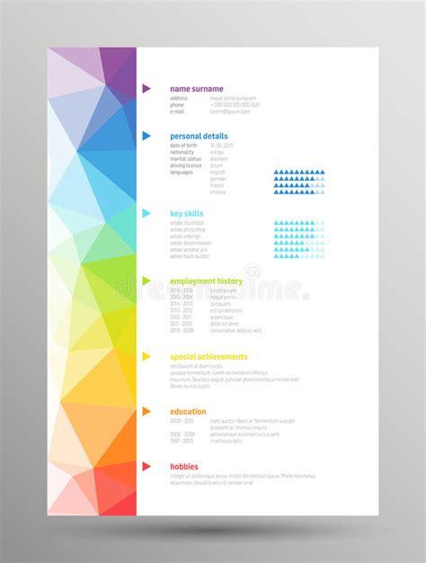 resume curriculum vitae stock vector image 55445628