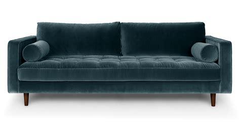 sofas furniture sven pacific blue sofa sofas article modern mid century and scandinavian furniture