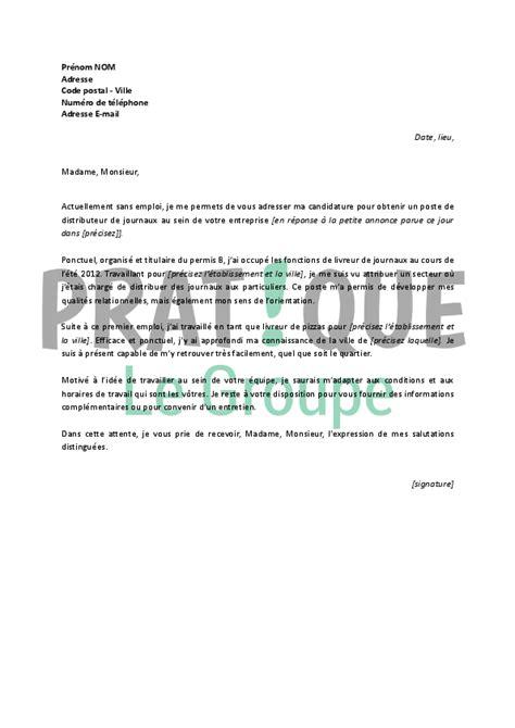 lettre de motivation de cuisine lettre de motivation pour un emploi de distributeur de
