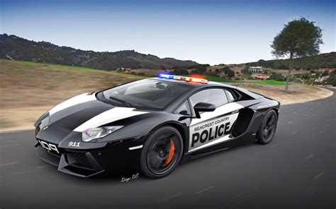 Lamborghiniaventadorpolicecar By Dkds On Deviantart