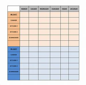 restaurant schedule template 11 free excel word With lunch roster template
