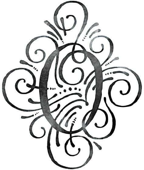 monogram watercolor calligraphy letter   junkydotcom redbubble