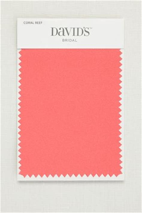 coral reef color coral reef fabric swatch davids bridal