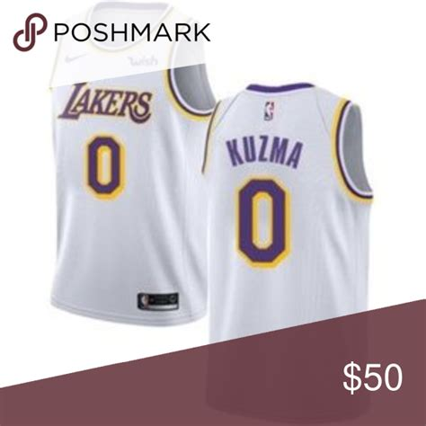Los Angeles Lakers Kyle Kuzma White #0 Jersey Attention ...