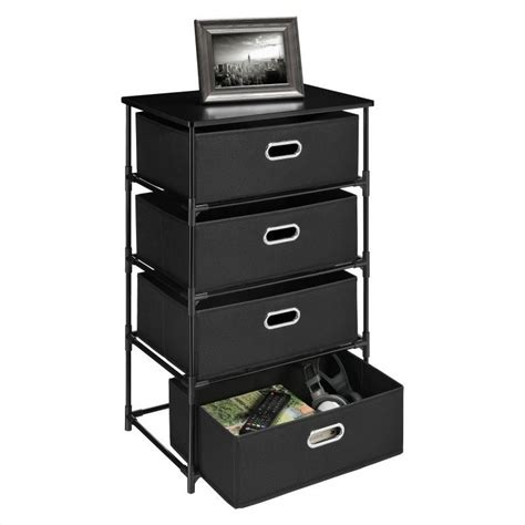black end tables with storage 4 bin storage end table in black 7775096