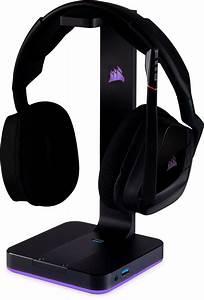 st100 rgb premium headset stand