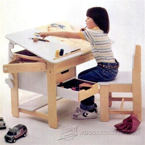 kids desk plans childrens furniture plans  projects