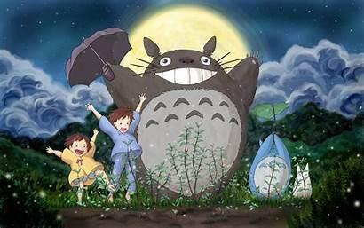 Totoro Miyazaki Anime Hayao Cartoon Illustration Ghibli